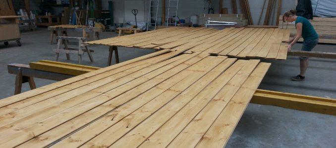 Weitere Vorbereitungen für unser Dach