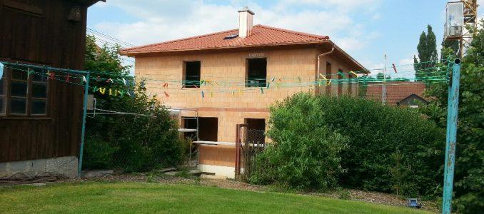 Rückbau des Gerüstes am Haus