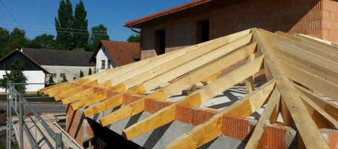 Ausmauern der Sparren – Räumen der Baustelle
