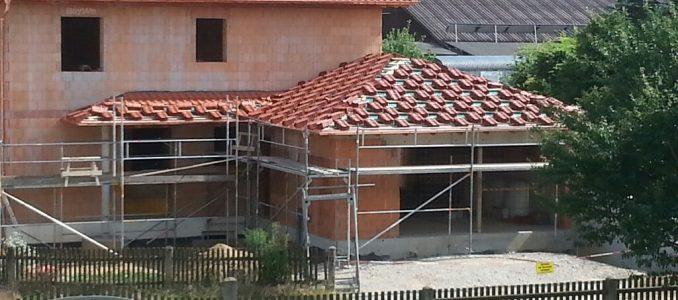 Aufräumen, Dachziegel auflegen, Vorbereitungen für Montag