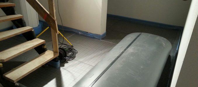 Weitere Vorbereitung des Kellerbodens