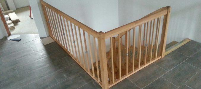 Heute wurde aus unserer Baustelle ein Haus… Die finale Treppe