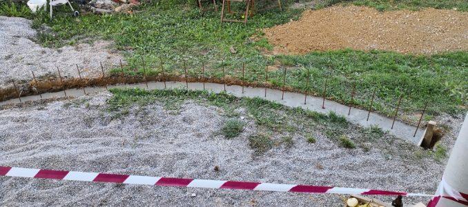 Kaum ausgegraben, schon wieder mit Beton verfüllt
