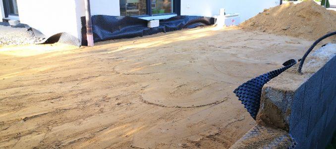 So, fast fertig…also mit dem Sand…